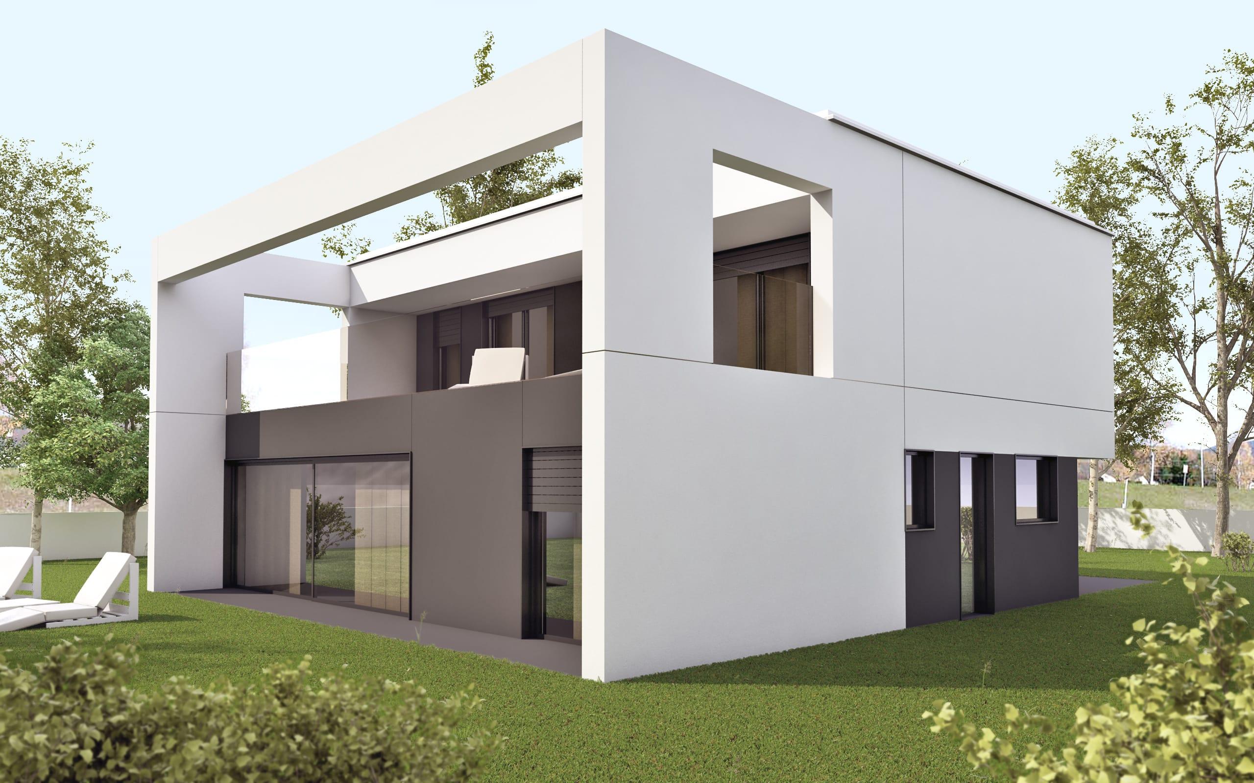 Modelo ht2 vivienda prefabricada en hormig n hormitech - Casas prefabricadas en valladolid ...